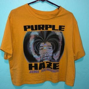 Woman's Purple Haze Jimi Hendrix Crop Top